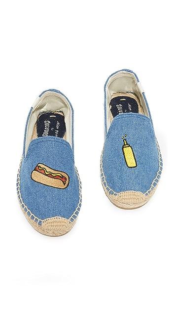 Soludos Hot Dog Smoking Slippers