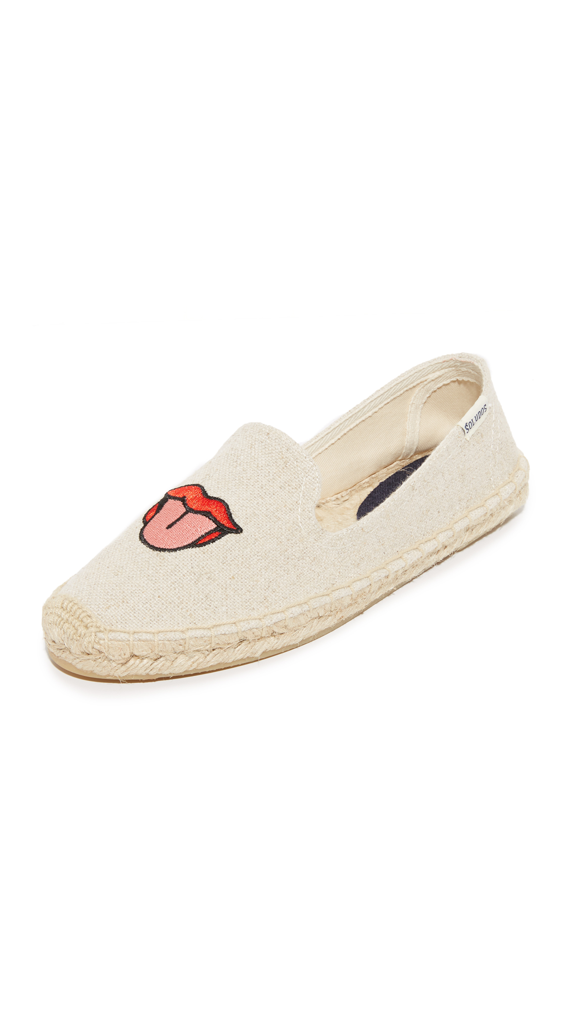 soludos female soludos lips smoking slippers sand