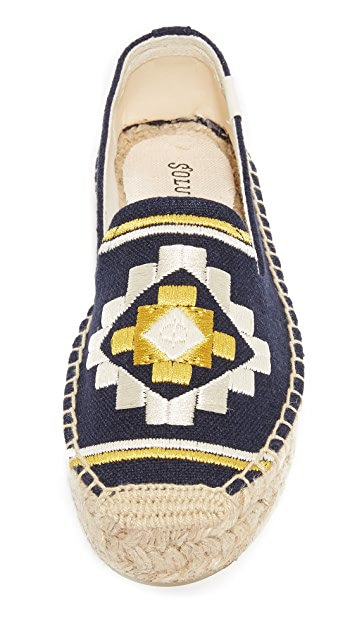 Soludos Embroidered Platform Smoking Slippers