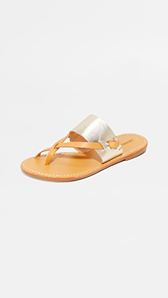 Soludos Leathers SLOTTED THONG SANDALS