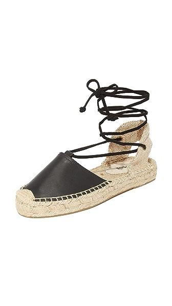 Soludos Platform Gladiator Sandals - Black