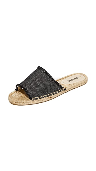 Soludos Espadrille Slide Sandals - Black