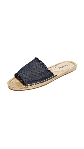 Soludos Espadrille Slide Sandals - Navy
