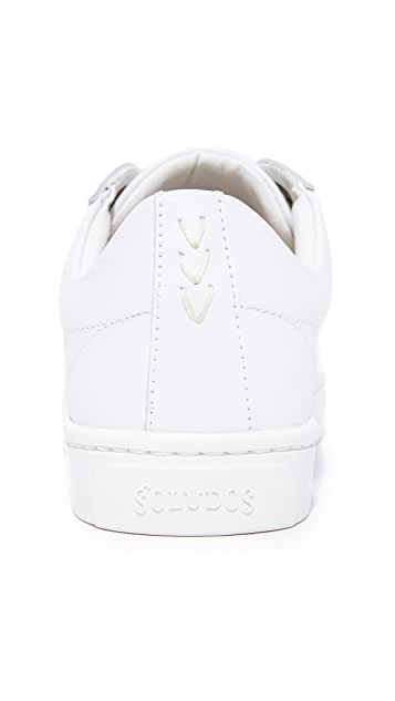 Soludos x Ashkahn Embroidered Lace Up Sneakers