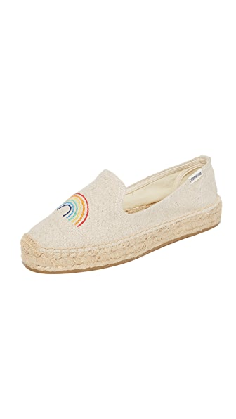 Soludos Rainbow Platform Smoking Slippers - Sand