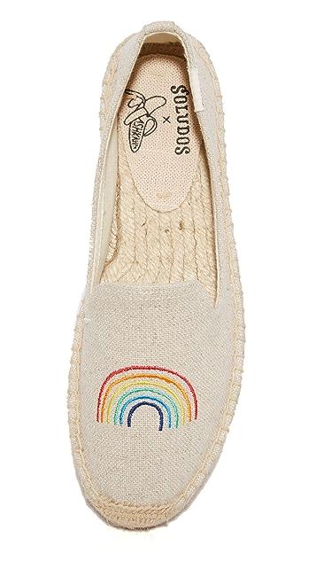 Soludos Rainbow Platform Smoking Slippers