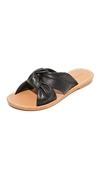 Soludos Knotted Slide Sandals - Black