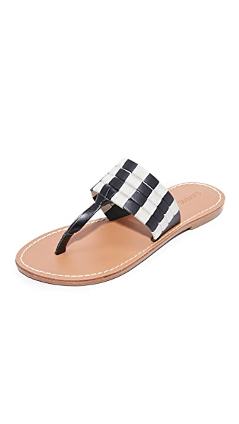 Soludos Multi Band Thong Sandals - Black