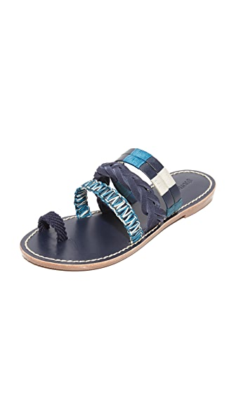 Soludos Multi Bracelet Sandals - Midnight/Blue Multi