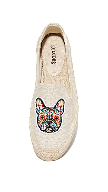 Soludos Frenchie Platform Smoking Slippers
