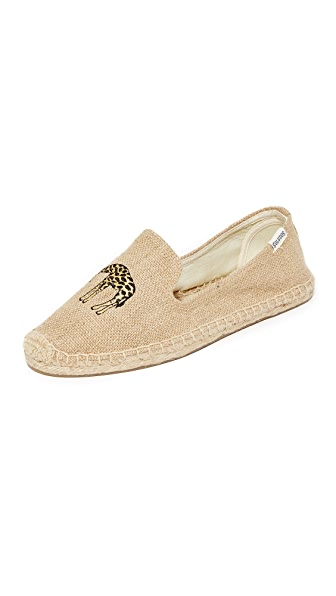 Soludos Giraffe Smoking Slippers - Natural
