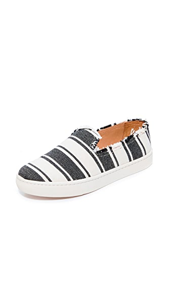 Soludos Striped Slip On Sneakers - Black/Natural