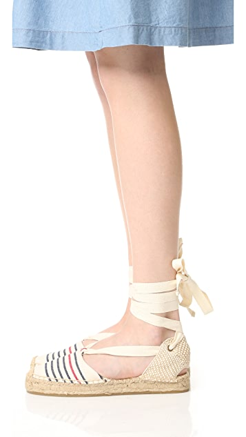 Soludos Striped Gladiator Sandals