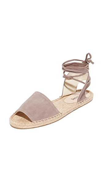 Soludos Balearic Tie Up Sandals - Dove Gray