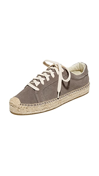 Soludos Platform Tennis Sneakers - Dove Gray
