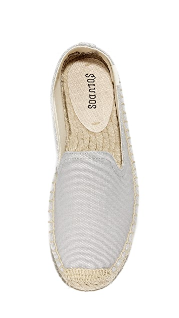 Soludos Canvas Platform Smoking Slippers