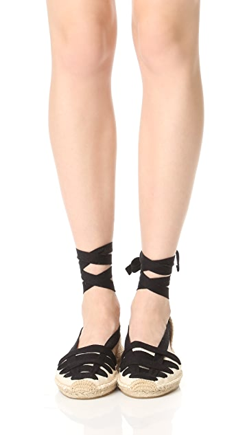 Soludos Laced Demi Wedge Sandal