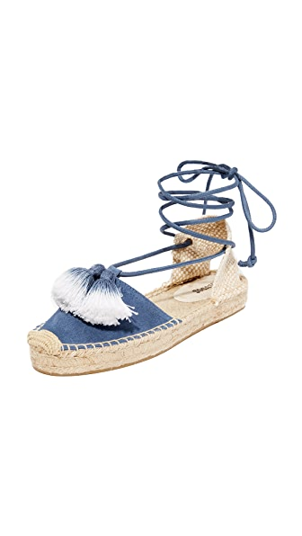 Soludos Platform Gladiator Sandals - Faded Oceano
