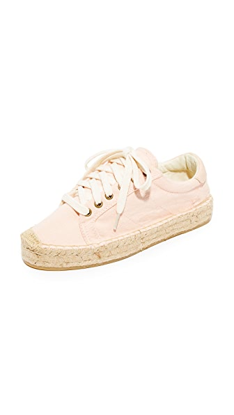 Soludos Platform Tennis Sneakers - Soft Rose
