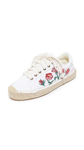 Soludos Rose Platform Tennis Sneakers - White