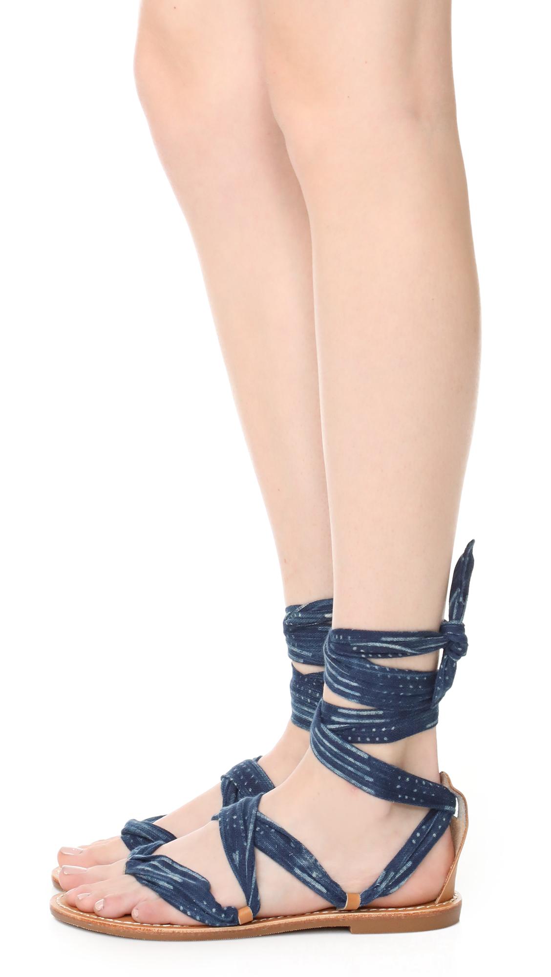 dc485fd5cfd Soludos Indigo Bandana Sandals