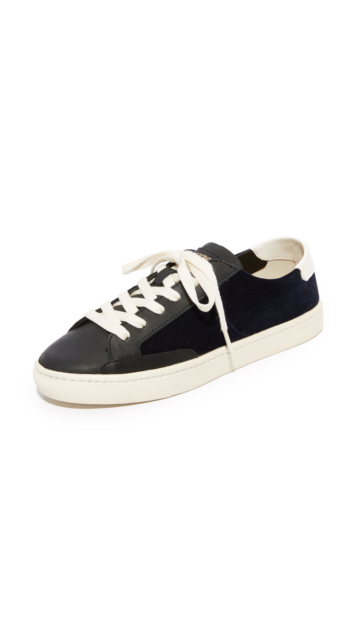 Soludos Ibiza Classic Lace Up Sneakers - Navy/Black