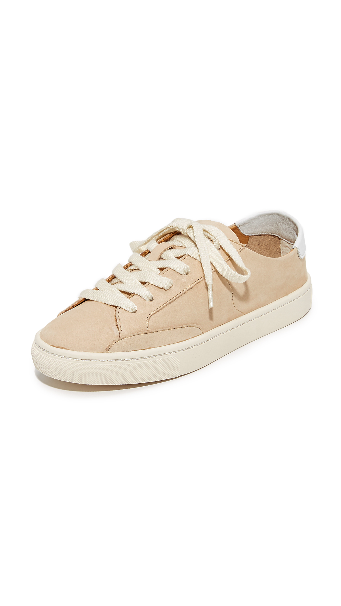 Soludos Ibiza Classic Lace Up Sneakers - Nude