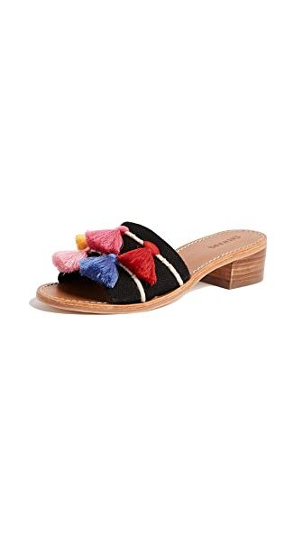 Soludos Tassel City Sandals In Black Multi