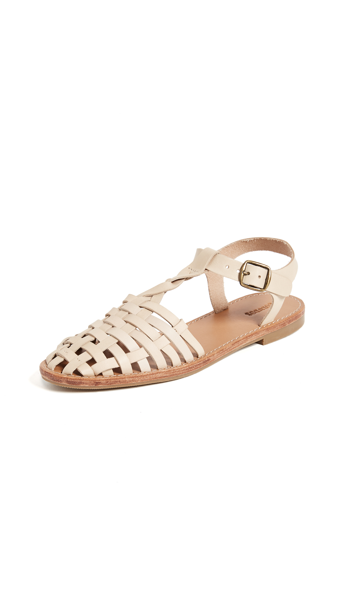 Soludos Woven Fisherman Sandals - Bisque