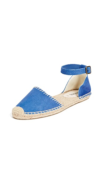 Soludos D'Orsay Espadrille Flats In Marlin Blue