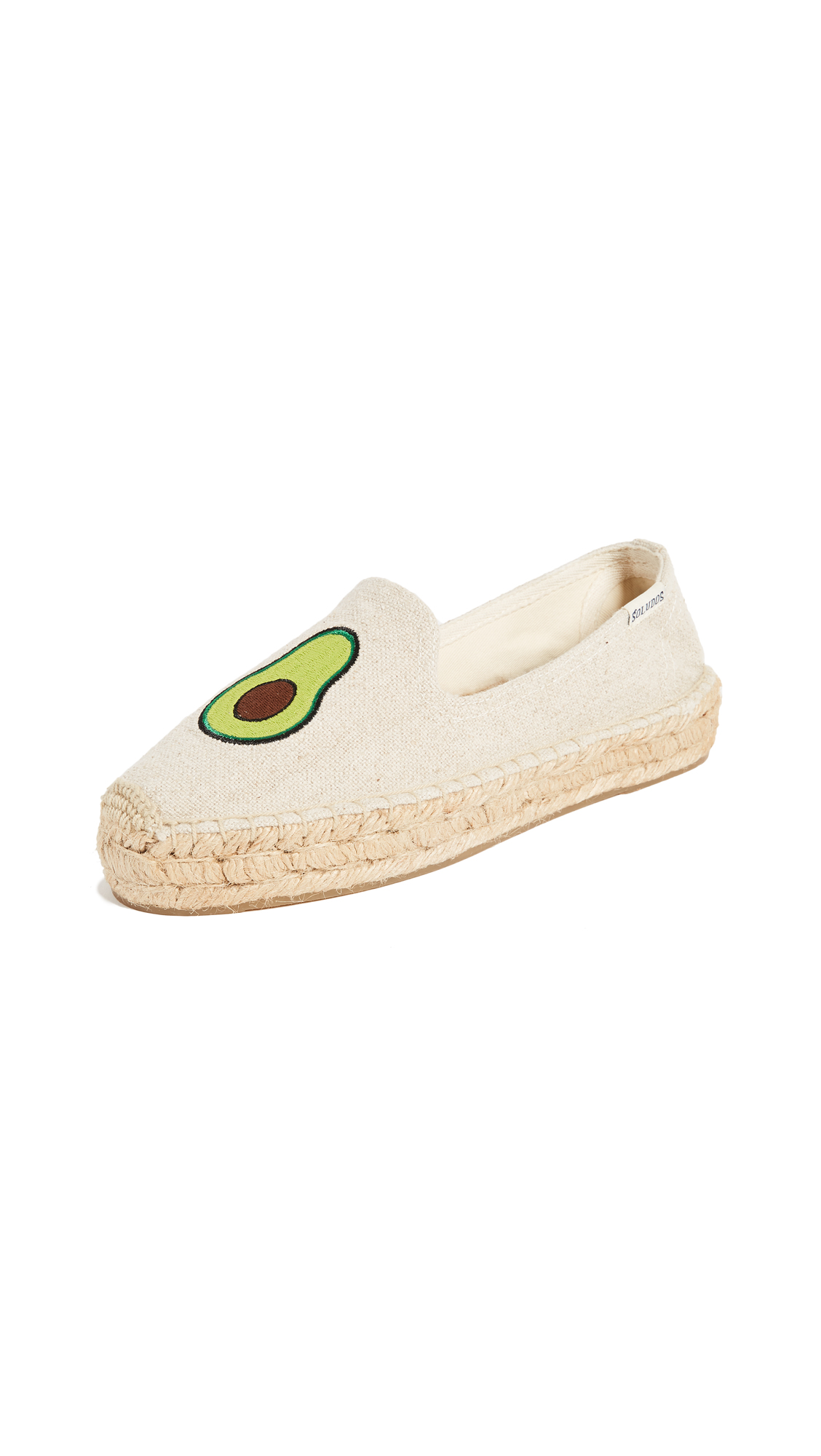 Soludos Avocado Platform Smoking Slippers - Sand