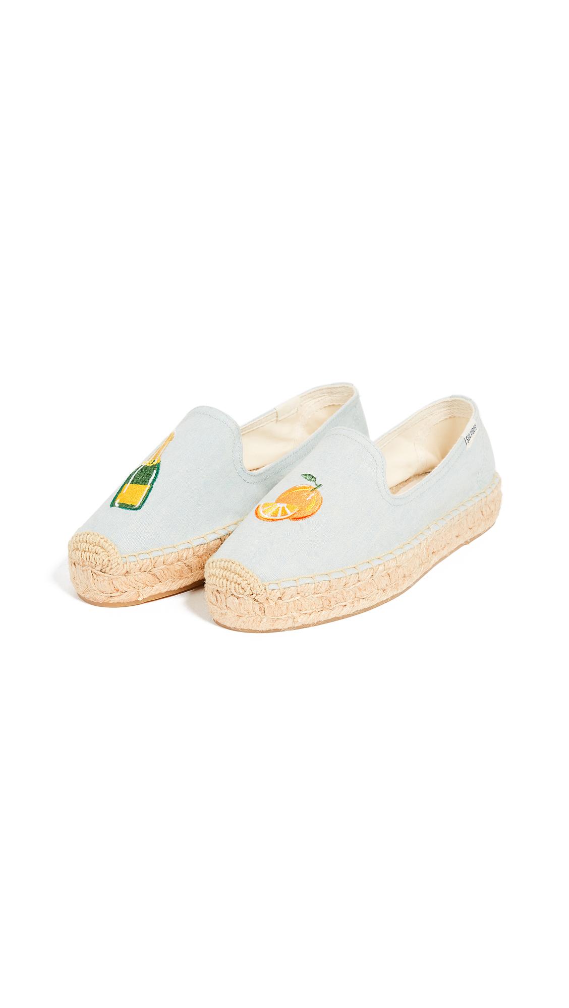 Soludos Mimosa Platform Smoking Slippers - Chambray