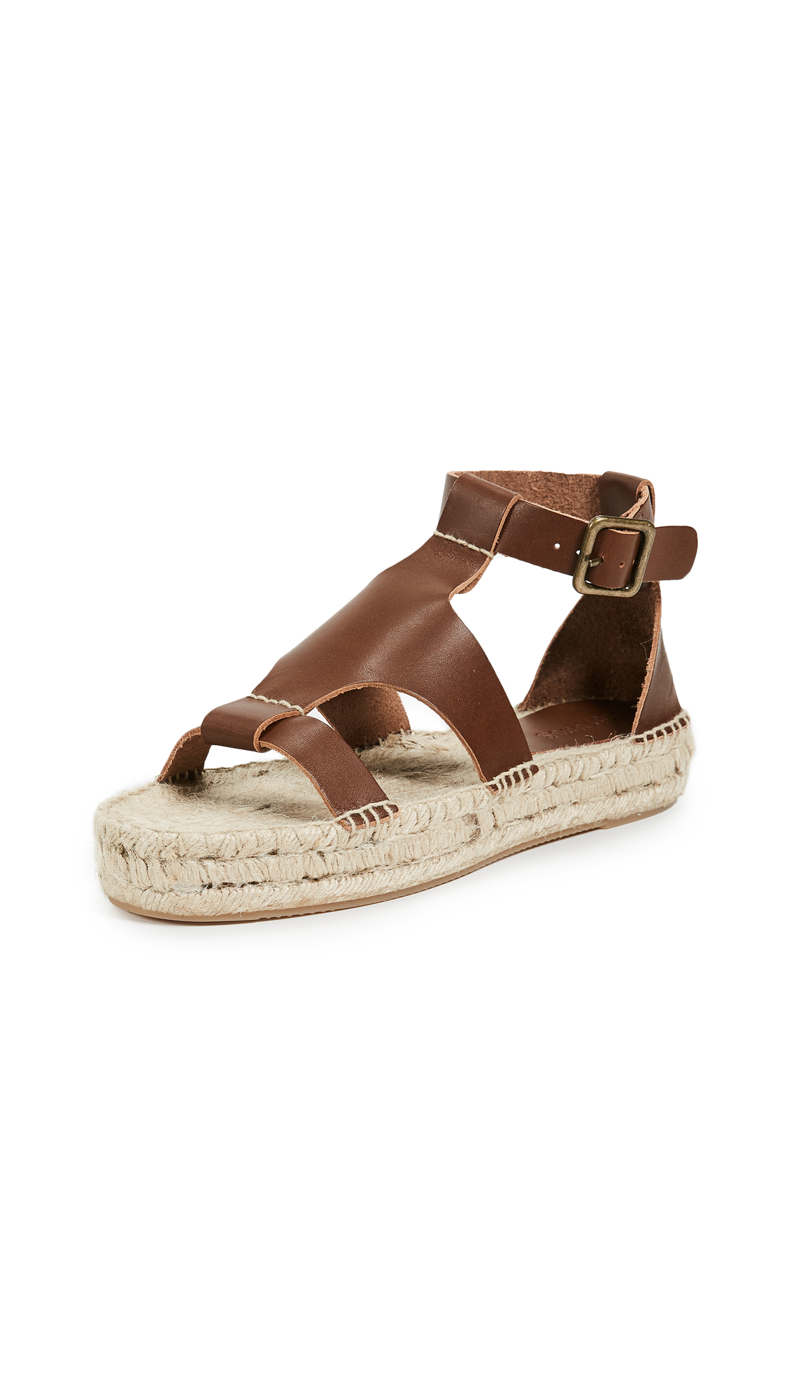 Soludos Banded Shield Sandals - Walnut