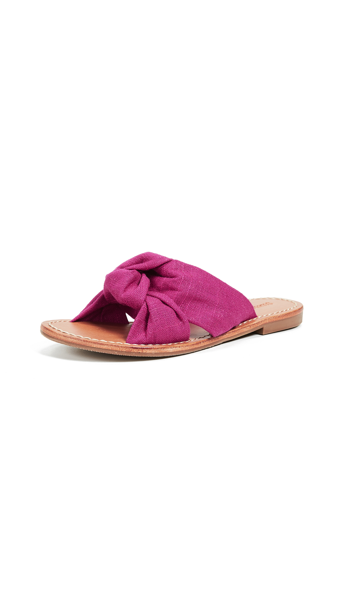 Soludos Knotted Slide Sandals - Fuchsia