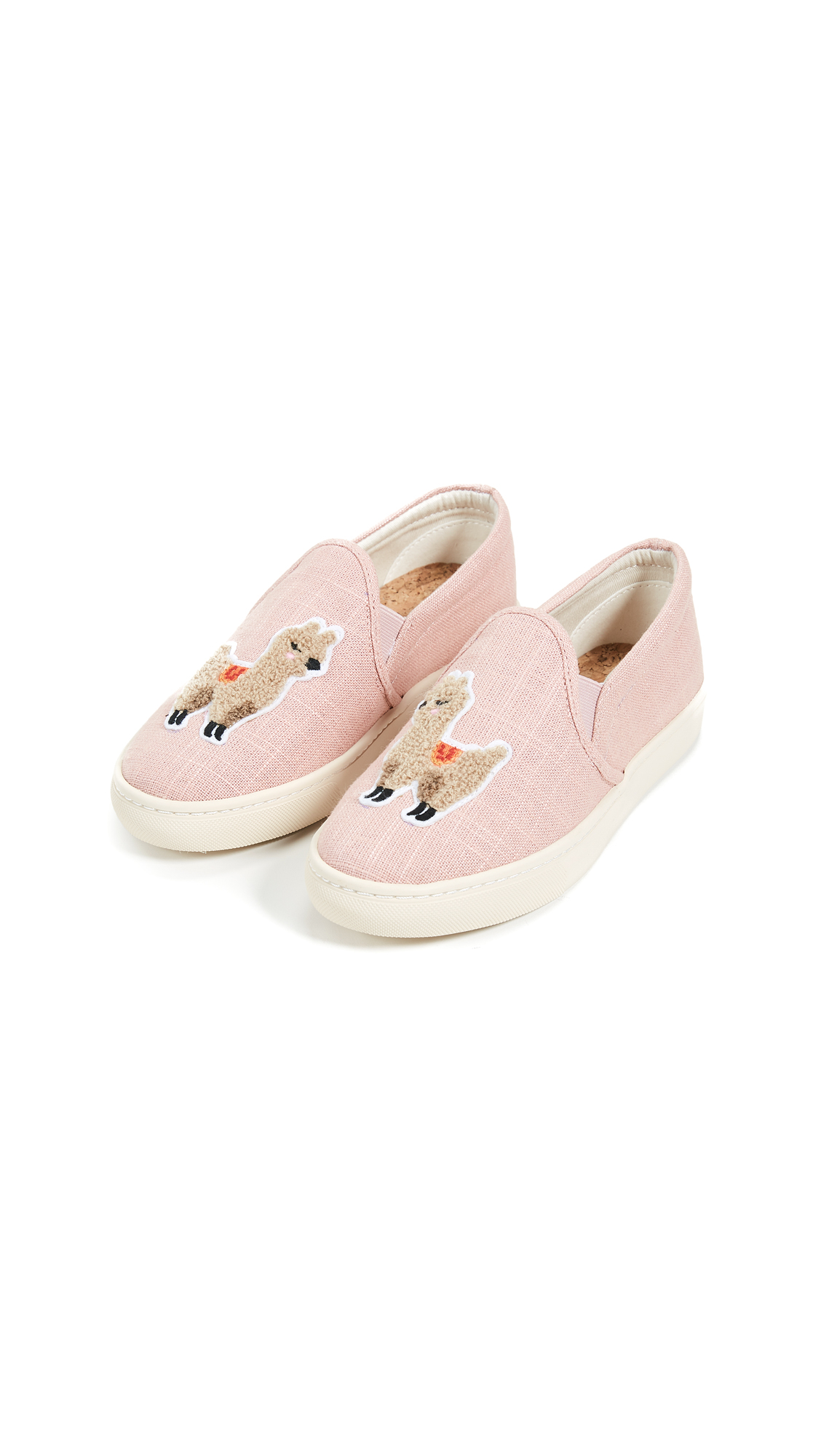 Soludos Llama Slip On Sneakers - Dusty Rose