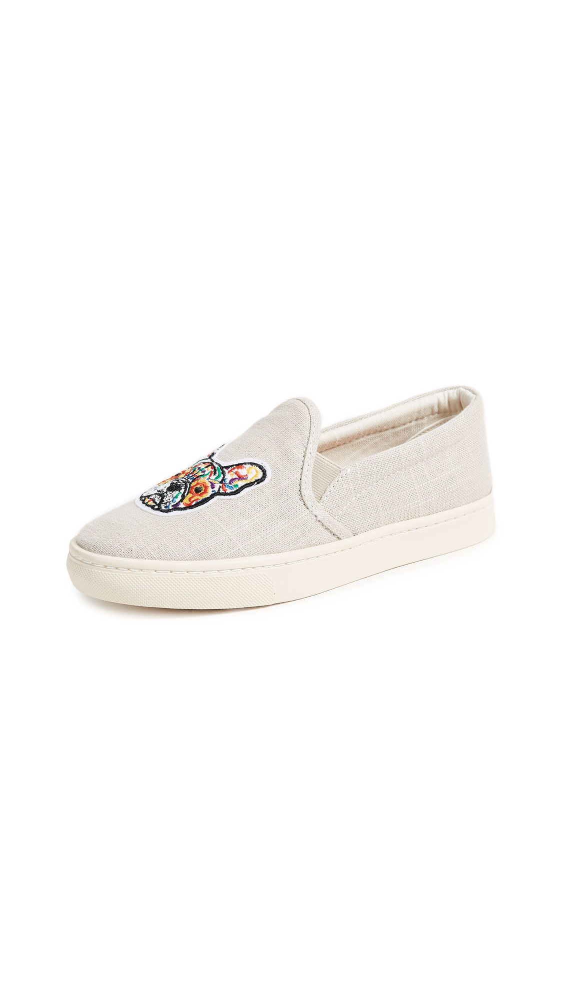 Soludos Frenchie Slip On Sneakers - Light Gray