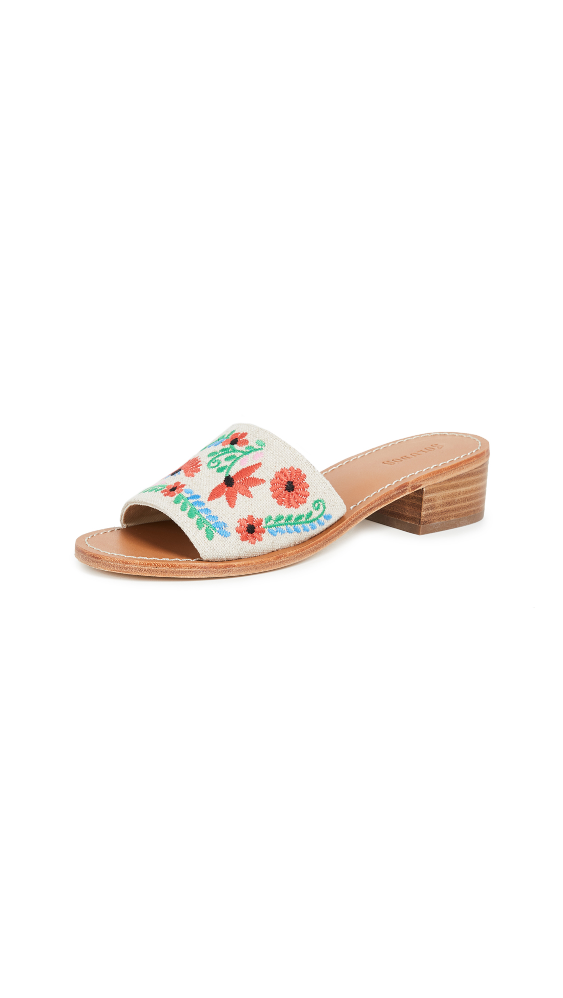 IBIZA EMBROIDERED CITY SANDALS