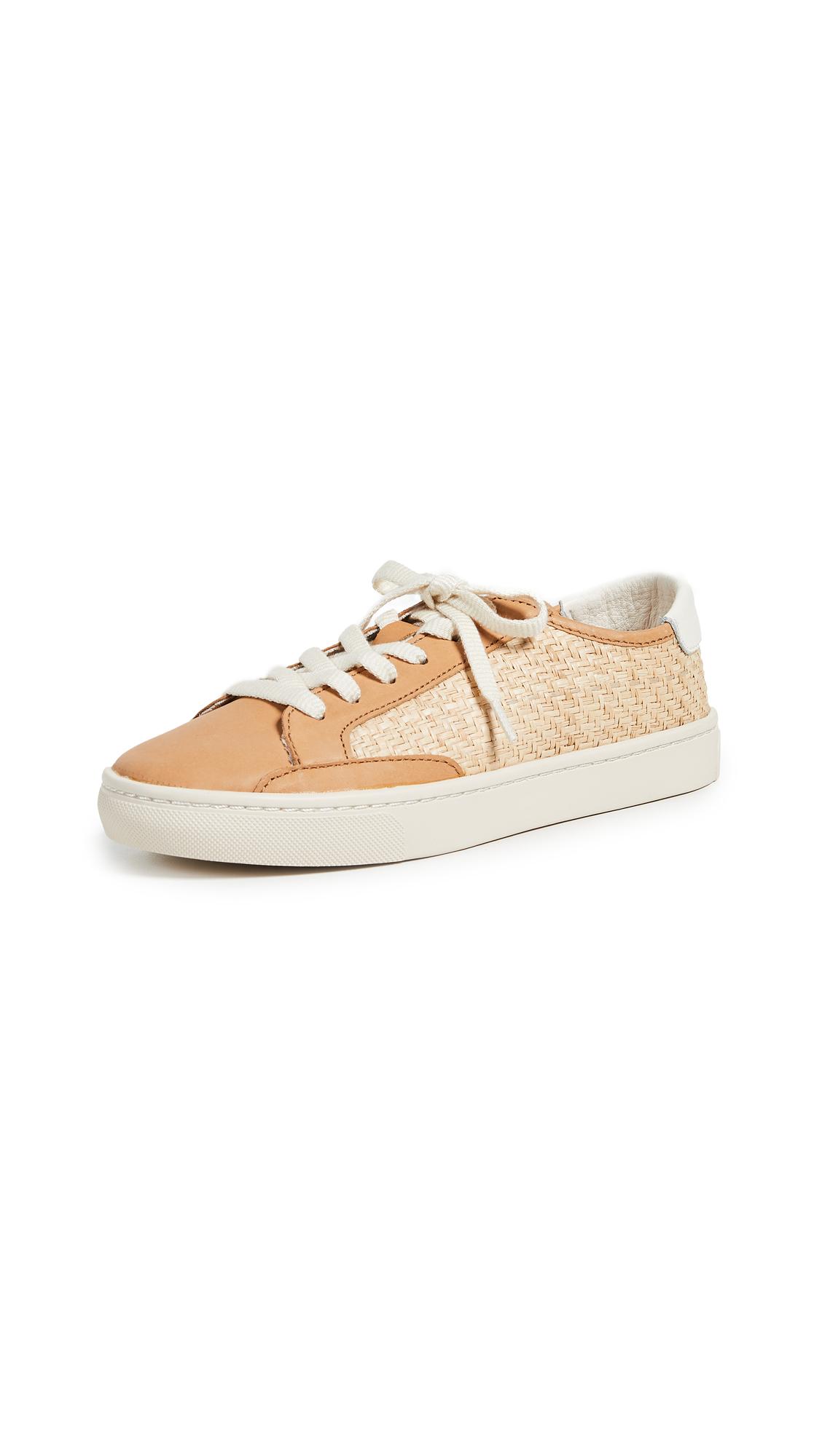 Soludos Ibiza Raffia Sneakers - Natural/Beige