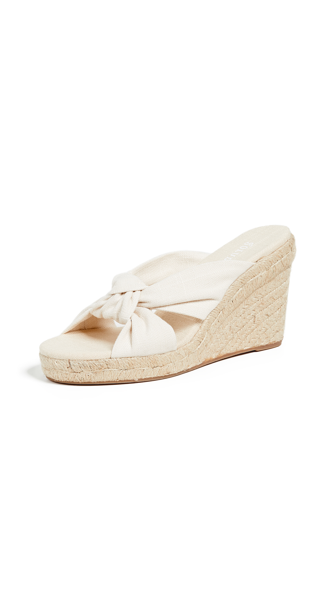 Soludos Knotted Wedge Espadrilles - Blush