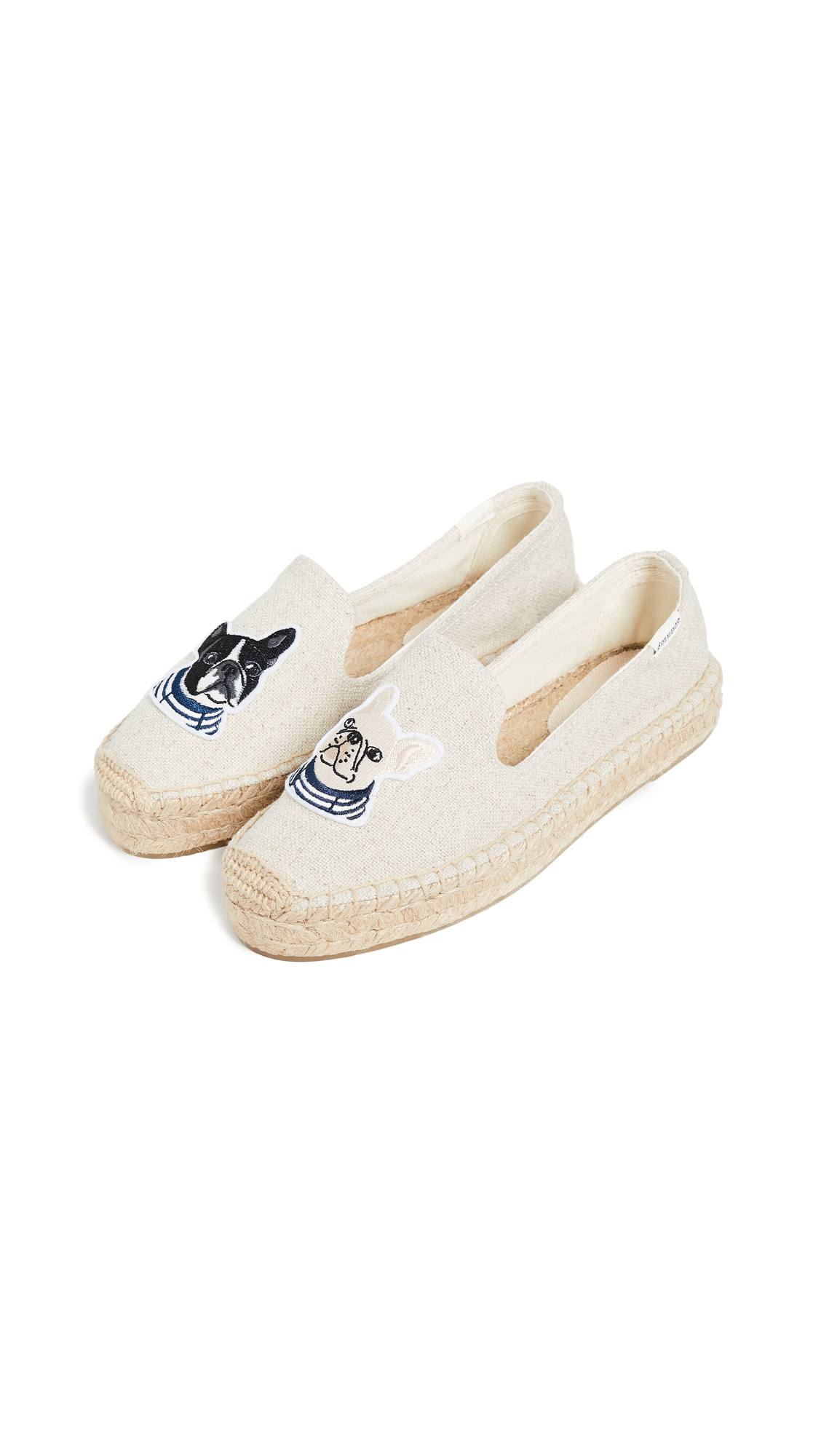 Soludos Teddy & Gigi Smoking Slippers - Sand