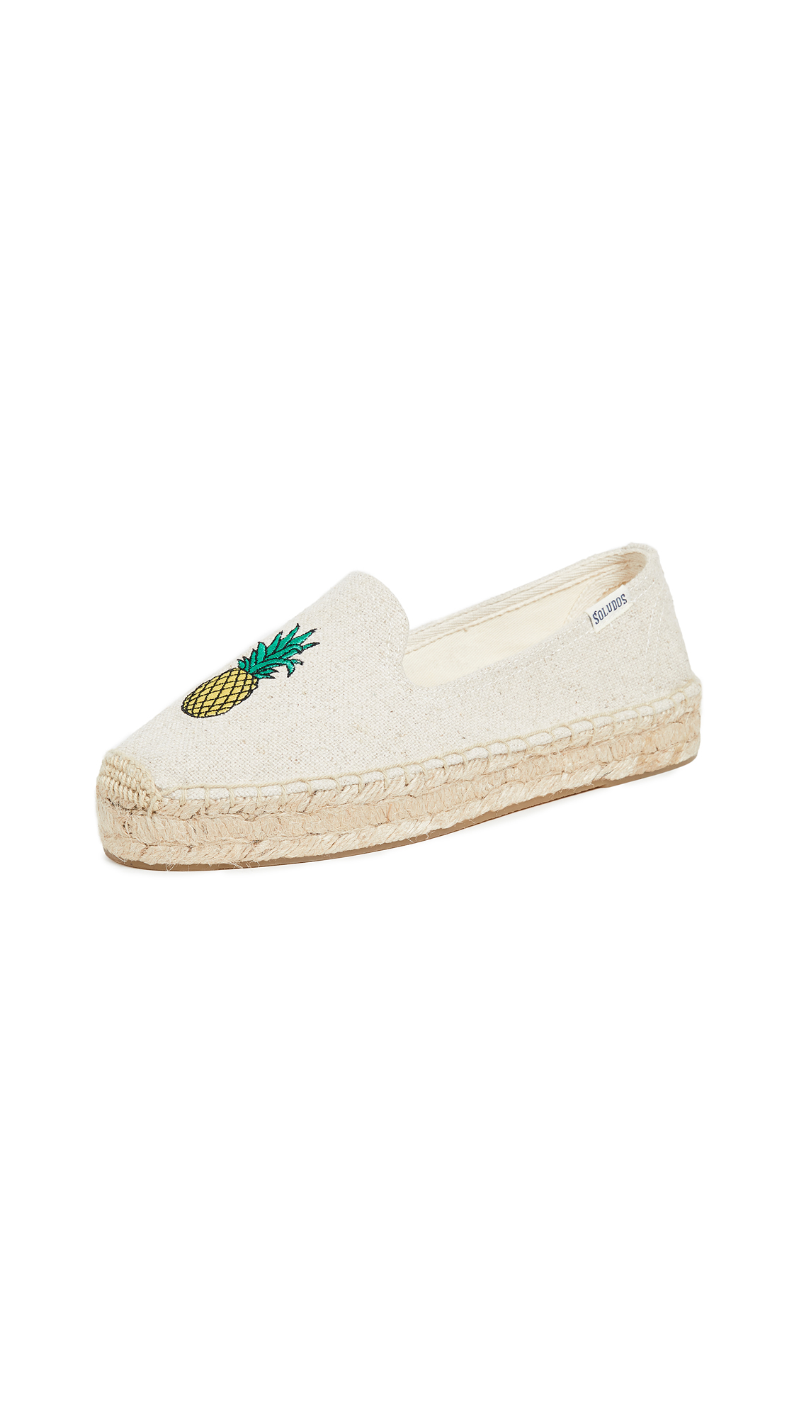 Soludos Pineapple Smoking Slippers - Sand