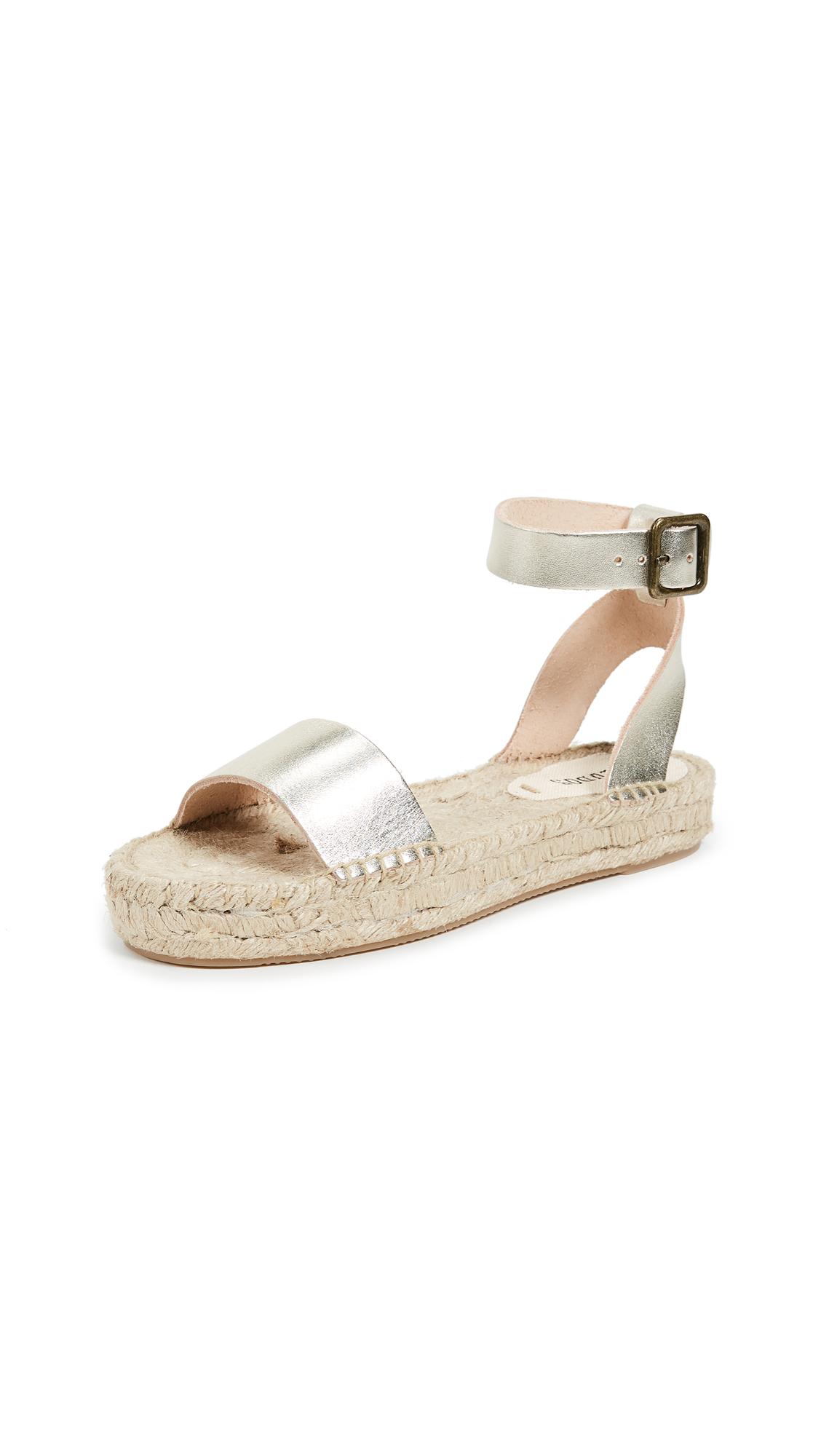 Soludos Cadiz Sandals - Platinum