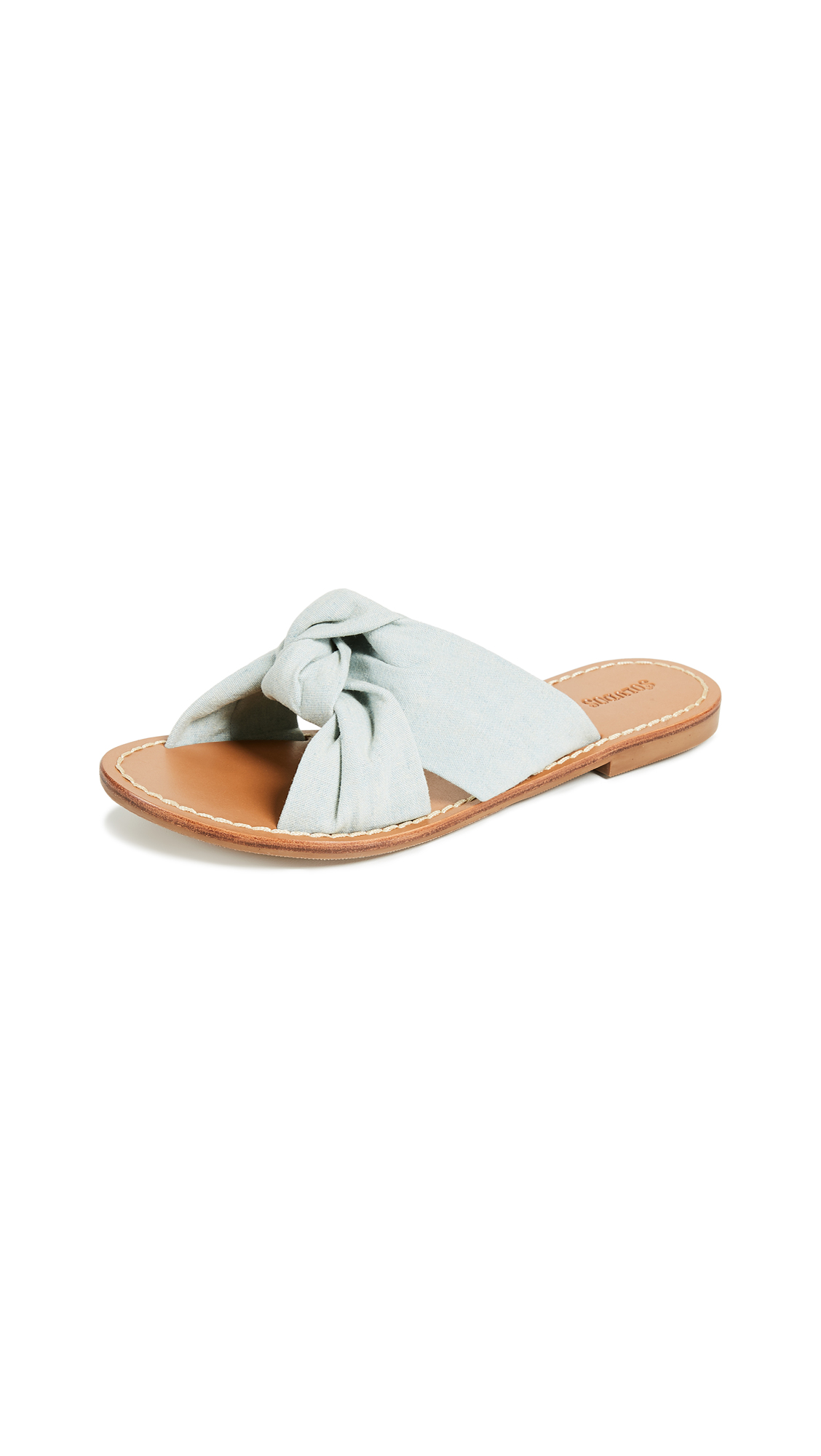 Soludos Knotted Slide Sandals - Chambray