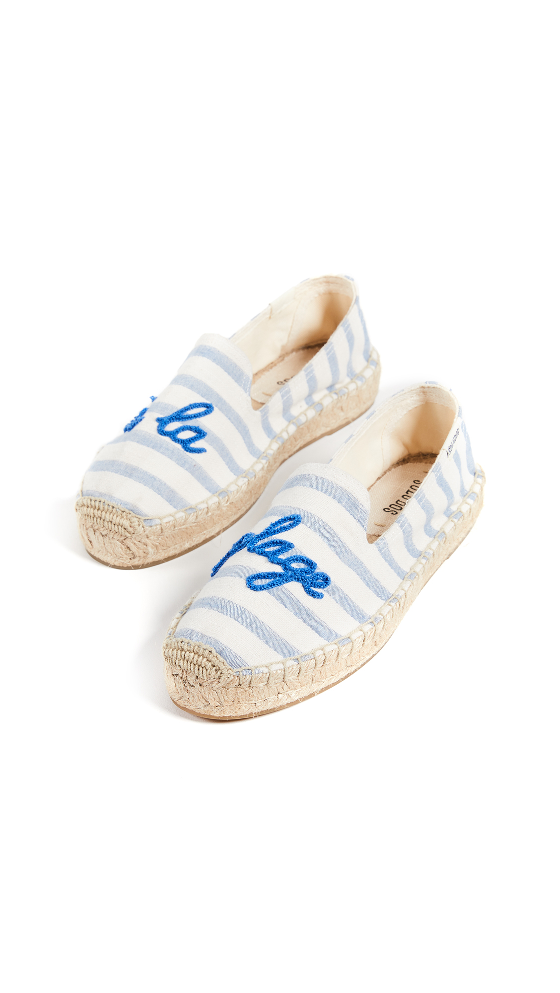 Soludos A La Plage Smoking Slippers - Natural/Blue