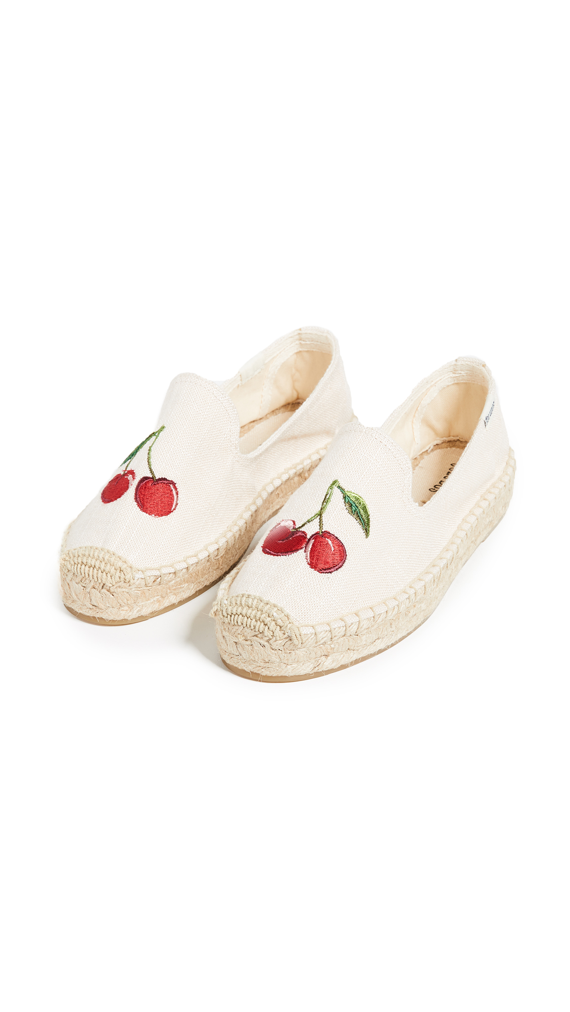 Soludos Cherries Smoking Slippers - Blush