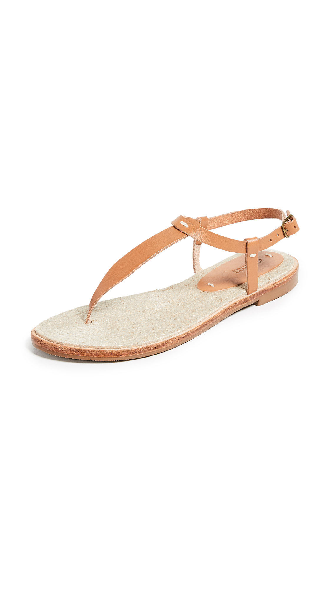 Soludos Classic Leather Flip Flops - Nude