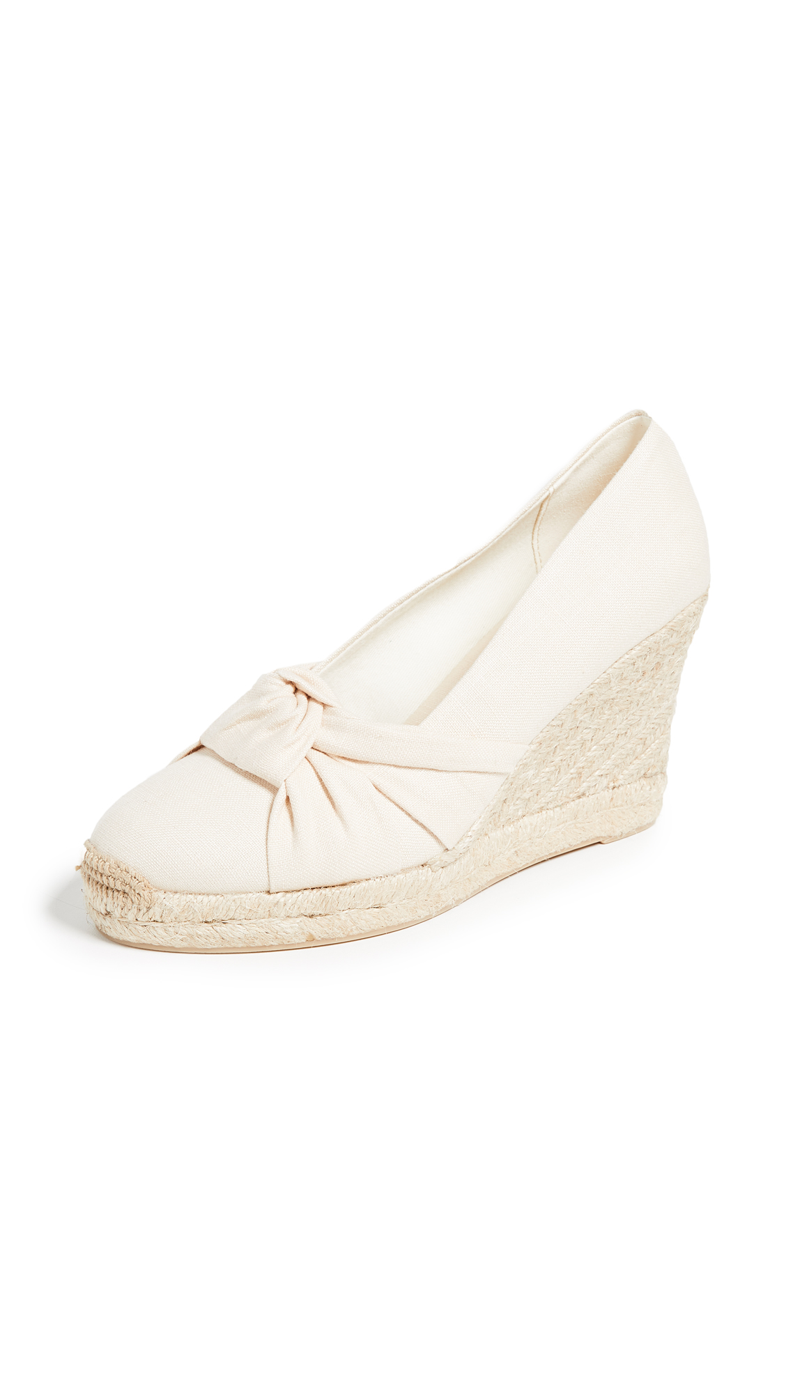 Soludos Knotted Tall Wedge Espadrilles - Blush