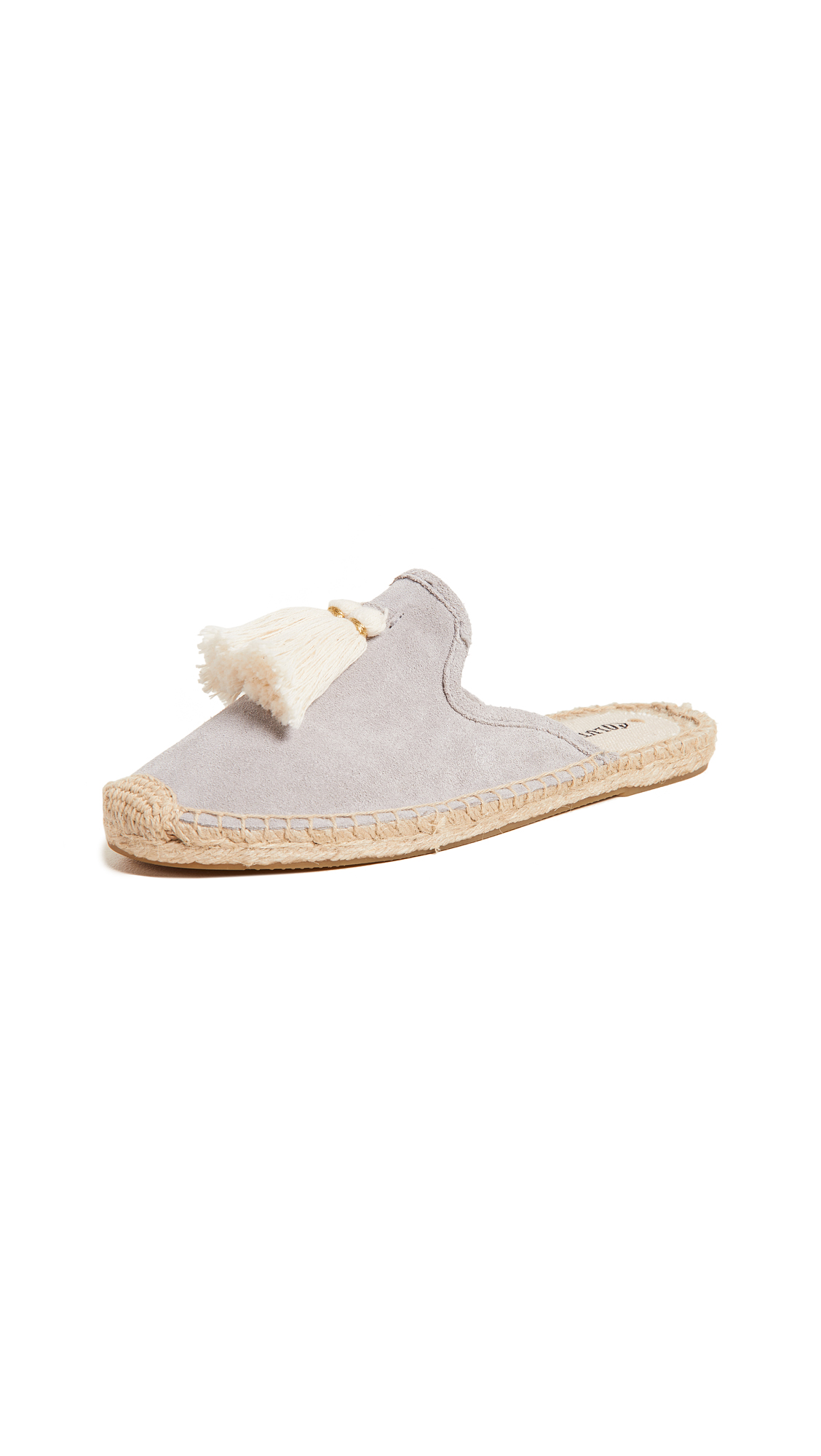 Soludos Tassel Suede Mules In Stone