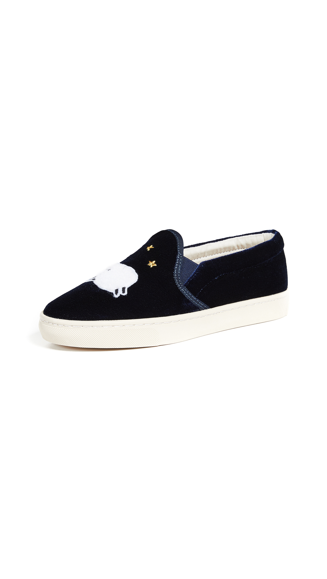 Soludos Velvet Sheep Slip On Slippers - Midnight Blue