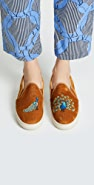 Soludos 天鹅绒孔雀运动鞋
